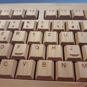 Tastatur Bambus mit Kabel