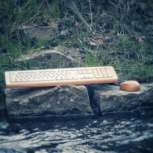 Bambus Maus und Tastatur