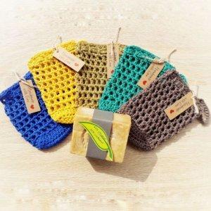 5 verschiedenfarbige Seifensäckchen